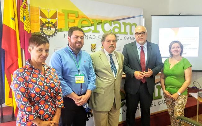 José Manuel Rodriguez con otros miembros de GNF, el alcalde de Manzanares y el Dtor. de FERCAM