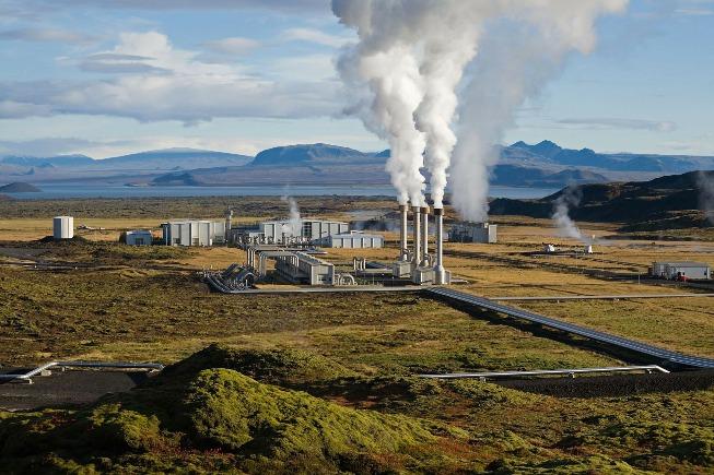 Planta de geotermia en Islandia