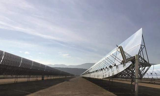 La planta termosolar 50 MW Termollano Foto Ence
